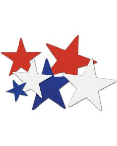 Patriotic Star Cutouts 9/PKG