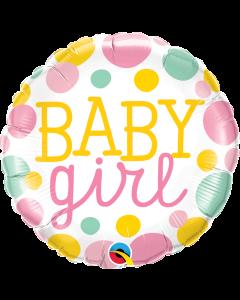 "18"" Baby Girl Dots Pkg"