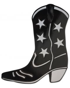 "16"" Black Cowboy Boot Cutout"