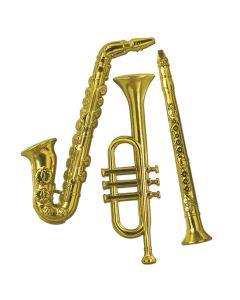 "17"" Plastic Gold Music Instruments"