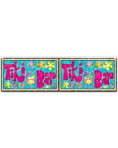 Tiki Bar Fringed Banner