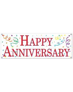 5' Happy Anniversary Banner
