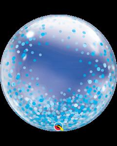 "24"" Blue Confetti Dots Deco Bubble (not self sealing)"