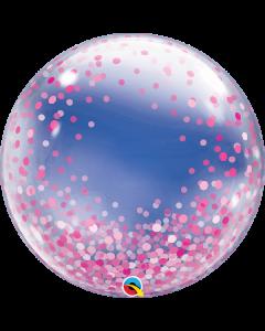 "24"" Pink Confetti Dots Deco Bubble (not self sealing)"