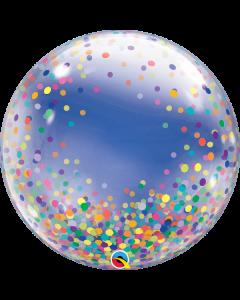 """24"""" Color Confetti Dots Deco Bubble (not self sealing)"""