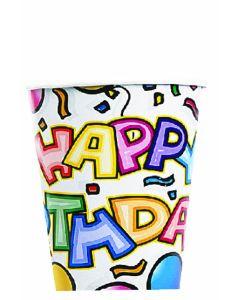 9oz Birthday Bash Cups 8ct