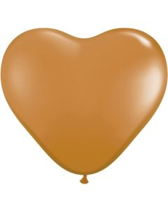 "6"" Mocha Brown Hearts 100ct"