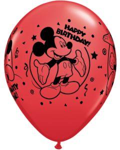 "11"" Mickey Happy B'day Assort 25ct"