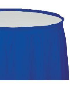 "Cobalt Blue Table Skirt 13'x29"""