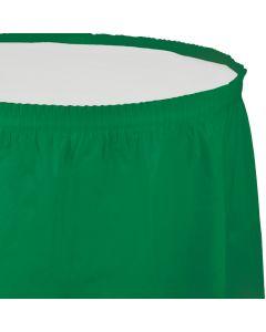 "Green Table Skirt 13'x29"""