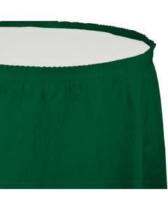 """Hunter Green Table Skirt 13'x29"""""""