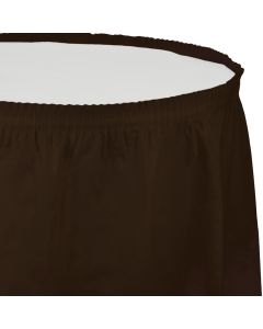 """Chocolate Table Skirt 13'x29"""""""