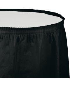 """Black Table Skirt 13'x29"""""""
