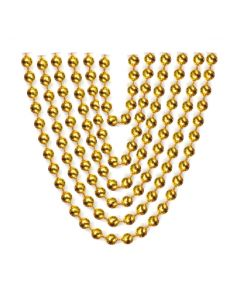 "32"" Metallic Bead Necklace Gold 6ct"