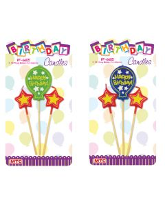 Birthday Balloon Pick Candles 3ct