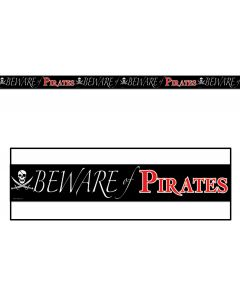 20' Beware of Pirates Party Tape