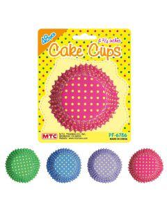 "4 3/4"" Dot Cake Cups Assort 48ct"