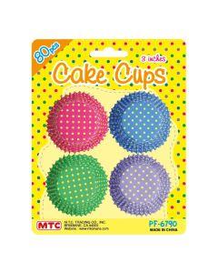 "3"" Dot Cake Cups Assort 80ct"