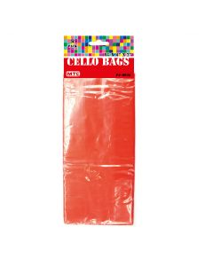 """9"""" Red Cello Bags 30ct"""