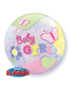 "22"" Baby Girl Butterflies S Bubble"