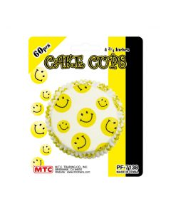 "4"" Smiley Cake Cups 60ct"