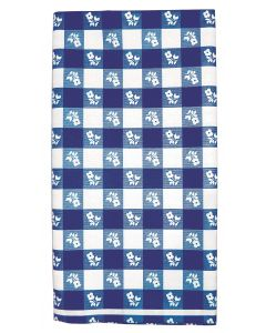 """Blue Gingham Table Roll 40""""x100"""