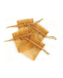 "4"" Organza Pouches Gold 4ct"