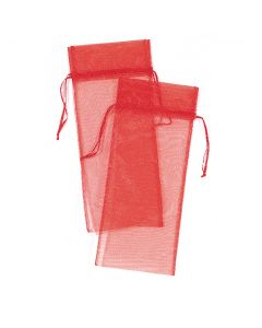 "14"" Organza Pouches Red  2ct"