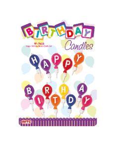 Happy Birthday Balloon Candles 1set