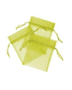 "6"" Organza Pouches Lime  3ct--"