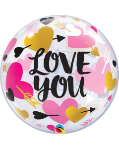 "22"" Love Hearts Arrows Bubble"