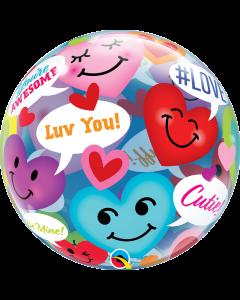 """22"""" Smiley Love Talk Bubble"""