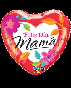 "18"" Feliz Dia Mama Floral"