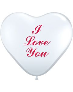 """11"""" I Love You Clear Heart 50ct"""