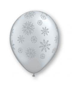 """11"""" Glitter Snowflakes Ard Silver 50ct"""