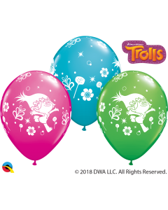 "11"" Trolls Poppy Assort 25ct"