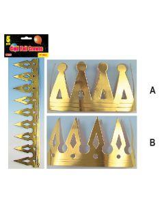 Gold Foil Crowns 5ct
