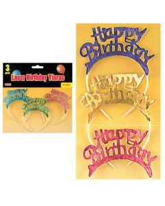 Laser Birthday Tiaras  3ct
