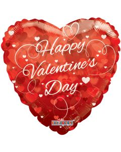 """36"""" Valentine Hearts Red Clearview"""