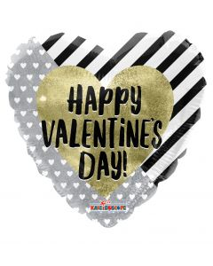 """9"""" Golden Heart Valentine Inflated with cup"""