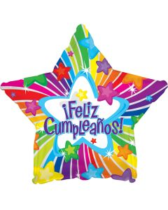 """18"""" Feliz Cumpleanos Bright Stars"""