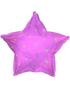 "18"" Pink Sparkle Star"