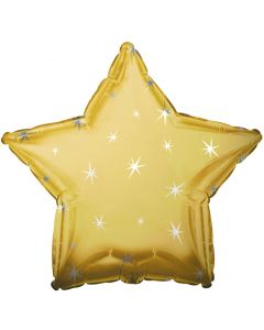 "18"" Metallic Gold Sparkle Star"