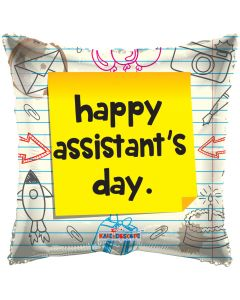 "18"" Happy Assistant's Day Note"