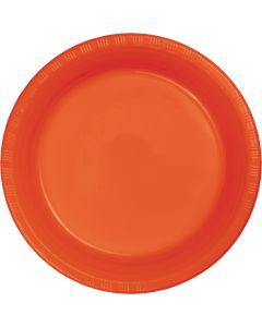 """Orange 7"""" Plates 20ct"""