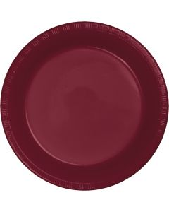 "Burgundy 7"" Plates 20ct"