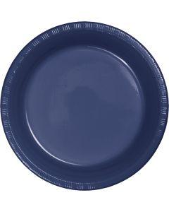 "Navy 7"" Plates 20ct"
