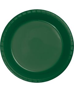 "Hunter Green 7"" Plates 20C"
