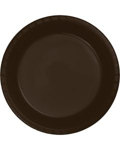 "Chocolate 7"" Plates 20ct"