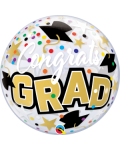 "22"" Congrats Grad Confetti Single Bubble"